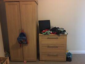 Mamas & Papas Rialto Cot bed, changing table & wardrobe