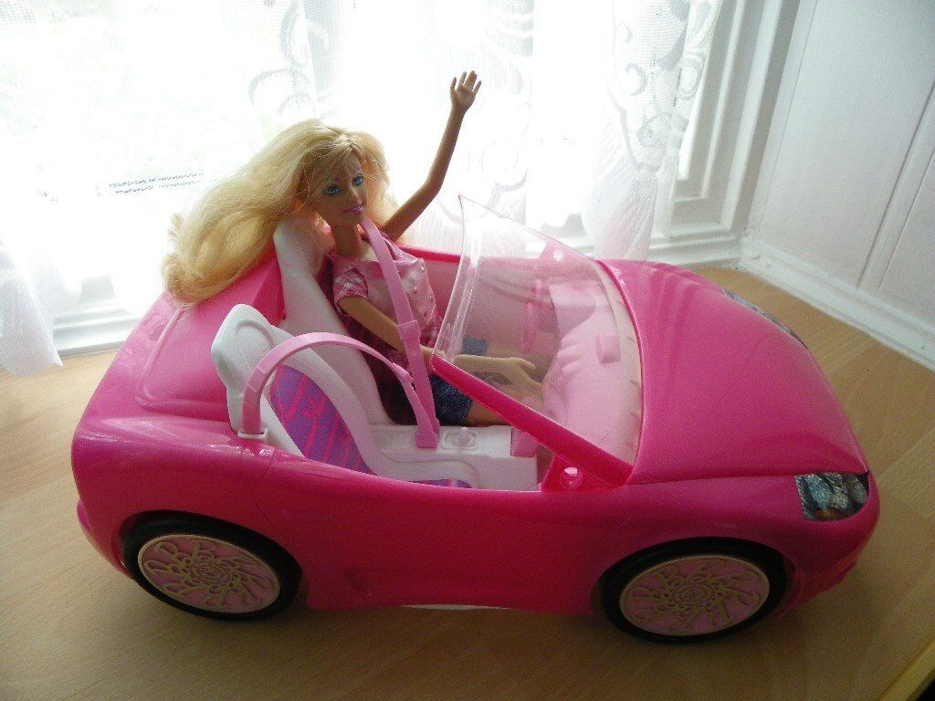 Lovely Barbie Doll and Sports Car - VGC | in Pentwyn, Cardiff