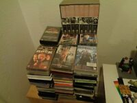 Over 50 VHS film videos including 2 complete series FREE