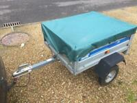 Maypole 711 Same as Erde 102 Galvanised car trailer with cover / hitch lock trailor metal box mp711