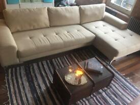 Made Cream Corner Sofa £350.