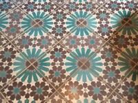 Hand painted Moroccan floor tiles