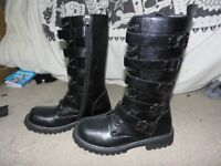 ALTERNATIVE STYLE DOC/NEW ROCK STYLE BOOTS. BRAND NEW SIZE 7