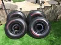 Quad bike wheels £125 ovno