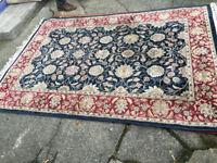 Attractive Large Vintage Persian Oriental 100% Wool Rug