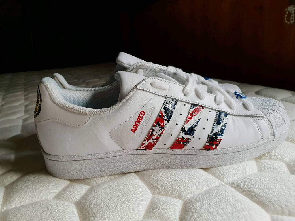 68eaa44d394 Adidas stone roses superstar trainers