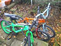 Old used bmx joblot x 6 bikes spares or repair - Shed barn find Bundle JOBLOT CHEAP BARGAIN PROJECT