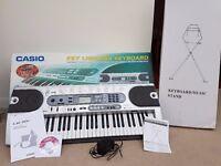 Working Casio Keyboard + Box + Instructions + Stand