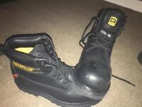 Caterpillar steel toe boots size 9