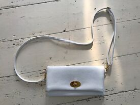 White Mulberry Style Cross Body Bag Leather