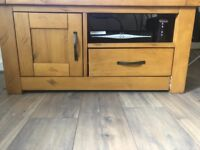 PINE TV STAND FOR SALE.