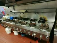 Commercial cooker plus free canopy hood and filters