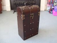 Wooden rustic wine box