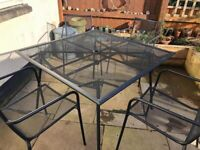 B&Q Garden Furniture. Table and 4 Chairs