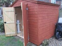 garden shed for sale 8ft wide x 7ft deep nearly new no offers