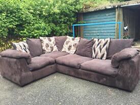 Jumbo cord mocca colour sofa