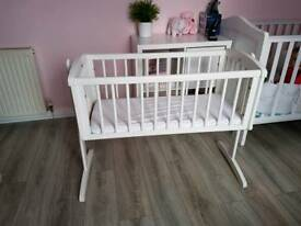Mothercare swinging crib and mattress