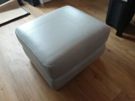 DFS Leather storage pouffe.
