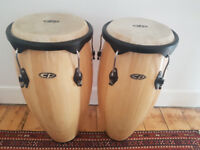 Conga drums with stand for sale