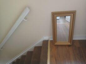 Gold Framed Oblong Mirror