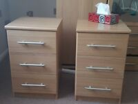 Bedside Tables - Two - Good condition - working well