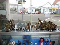 JOB LOT. 108 ASSORTED TROPHIES FOR ENGRAVING
