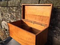 Handmade wooden storage box - 69w x 36h x 36d (cm)