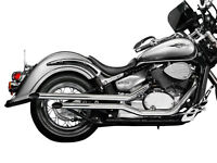 Suzuki Intruder/Boulevard/Volusia Slash Cut Fat Pipes with removable baffles, great sound, vgc.