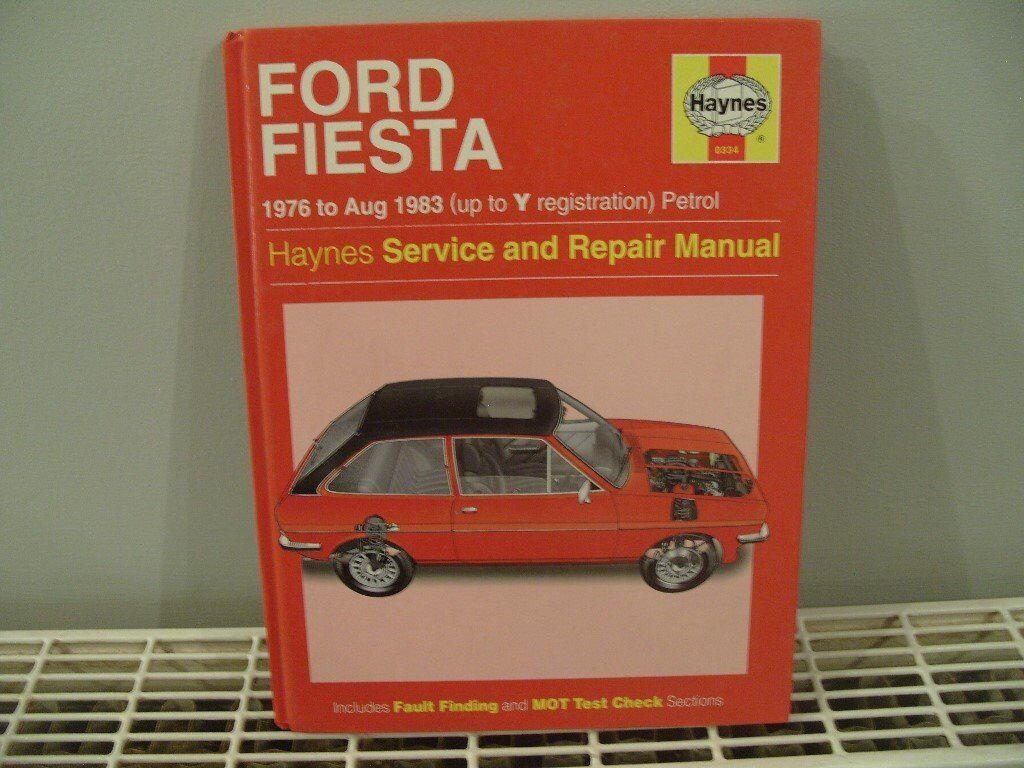 Ford Fiesta 1976 to Aug 1983 Haynes service & repair Manual