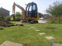 SUPERIOR MINI DIGGERS*** MINI DIGGER AND DRIVER HIRE FROM£ 195.00 PER DAY FULLY INCLUSIVE *****
