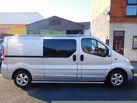 NO VAT & Finance Vauxhall Vivaro 2.0CDTi 115 sportive LWB 6 seat factory fitted crew cab van (9)