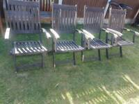 Hardwood folding garden chairs