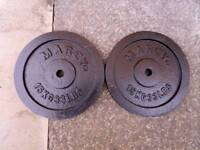 2 x 15kg metal weight plates