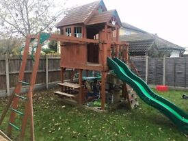 Skyfort II Playcentre - backyard discovery climbing frame with multiple features