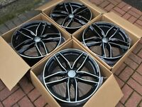 "4 x NEW 18"" VW AUDI STYLE ALLOY WHEELS 5x112 5 112 POLISHED VW golf mk5 mk6 rs3 a3 a5 w203"