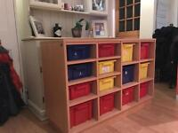 SOLD- Galt Children's toy storage unit