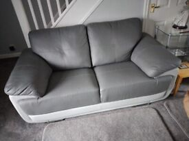 two seater modern leather sofa