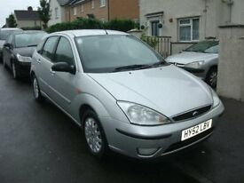 2002 Ford Focus Ghia 2.0 16v Silver 5 door hatchback 101k Mot May 2015