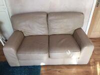 Leather sofa (M&S) cream