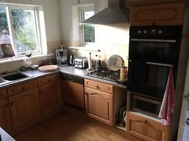 Kitchen for sale - all cupboards & doors plus hotpoint integrated oven - MUST GO THIS WEEKEND