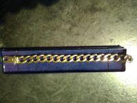 Gold bracelet hallmarked 375 - 9 carat - 68.5g