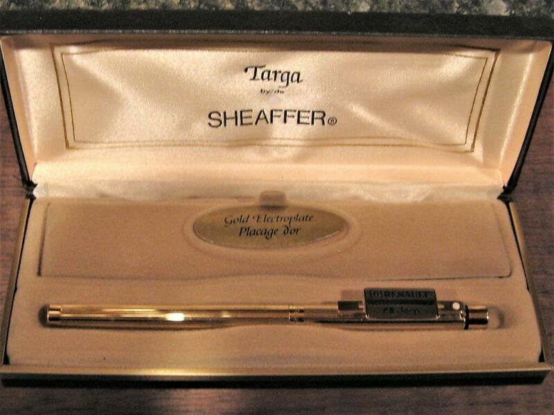 Sheaffer Targa Rolling Ball Marker Pen Gold Jeep Renault Cap