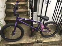 Haro 100.3 bmx stunt jump custom 20.3 inch boys bike teenager men's small cog skater park in purple