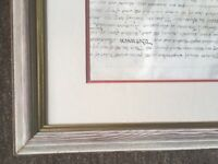 Pair of Large Handmade Wooden Picture Frames