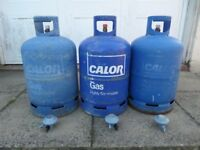 3 x 15kg Calor Gas Butane Cylinders (Partially Filled)