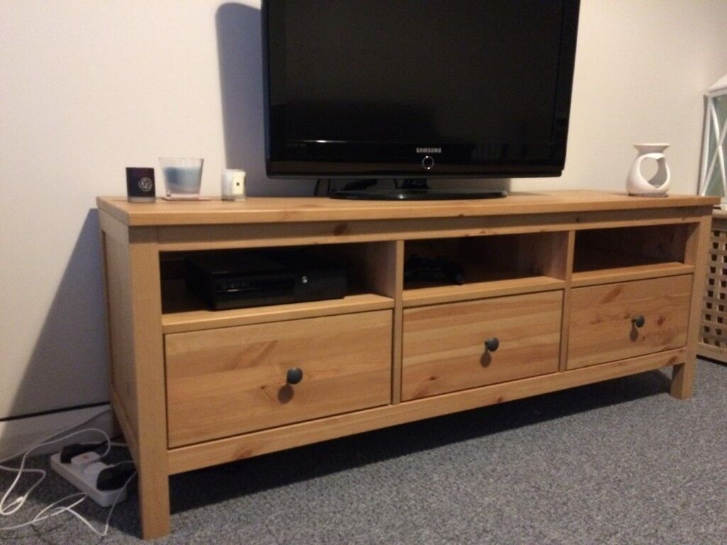 solid wood tv bench (ikea) | in coleraine, county londonderry | gumtree