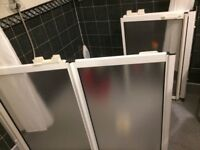 AKW Bi folding showers doors for accessible shower for disabled