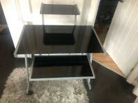 Excellent condition , Black glass computer table with chair , and keyboard
