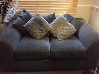 2 X 2seat sofa , grey very comftable