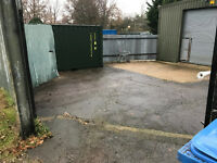 UNITS/WORKSHOPS PORTAKABIN AND TOILET AND YARD FOR 5 CARS PARKING AND A 20FT X 8FT NEW CONTAINER